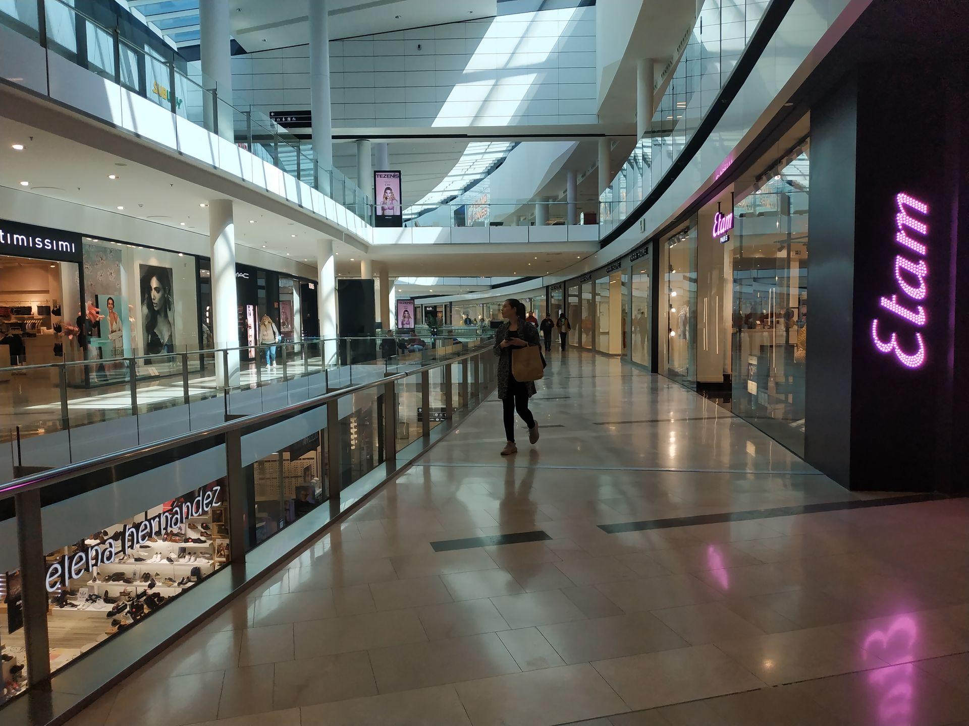 los centros comerciales del