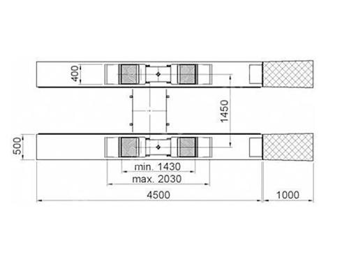 3,5 Ton Çift Istampalı Elektro Hidrolik Gömme Lift