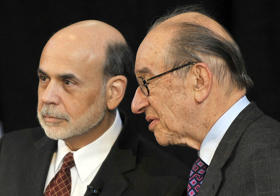 Image result for bernanke and greenspan
