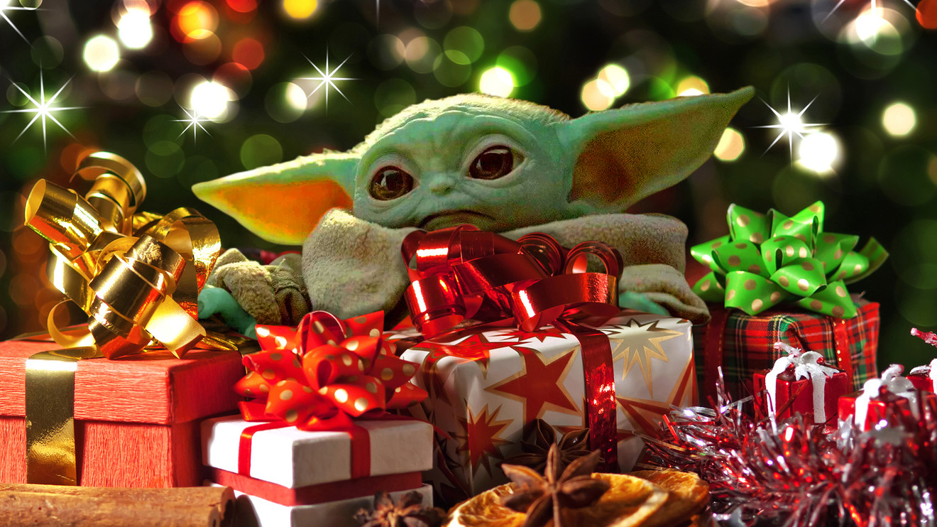 Image result for baby yoda christmas