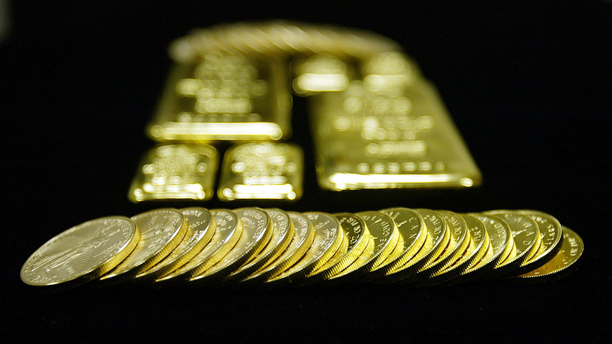 gold retreats as the