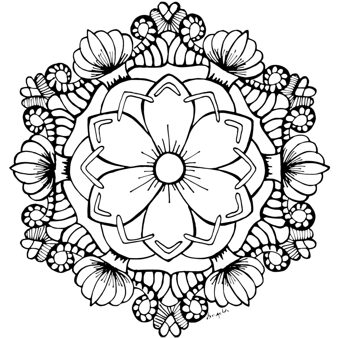 August Flower Garden Coloring Page
