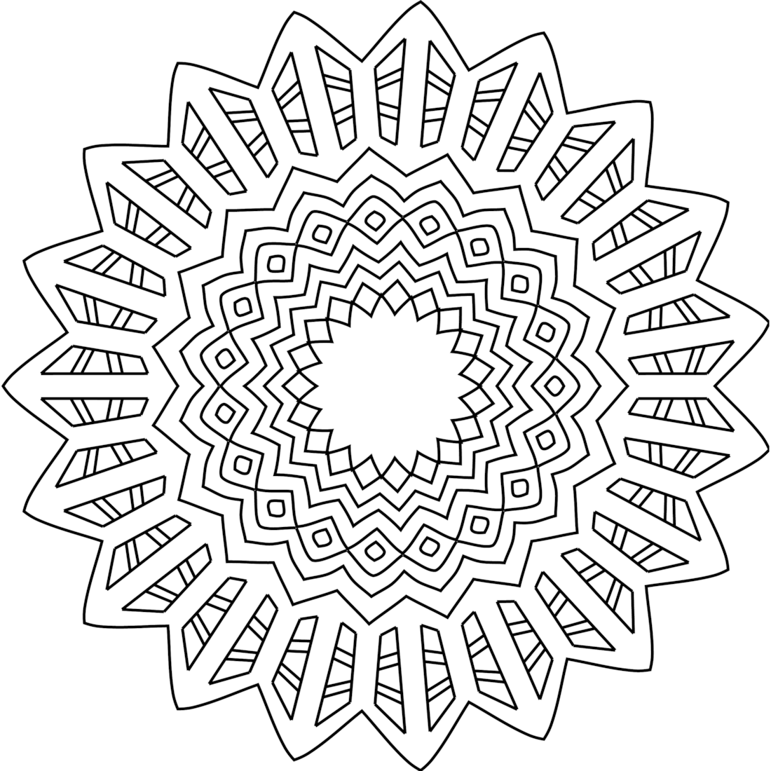Summertime Madness Coloring Page