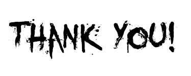 Thank You! Black Letters :: Thank You :: MyNiceProfile.com