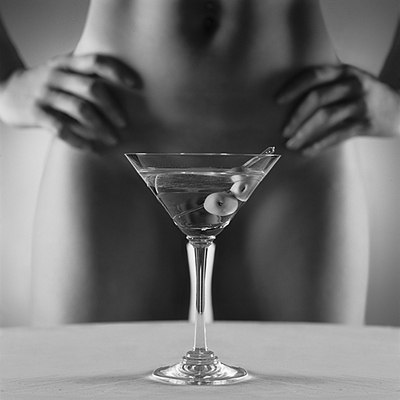 Hot Girl Martini Glass