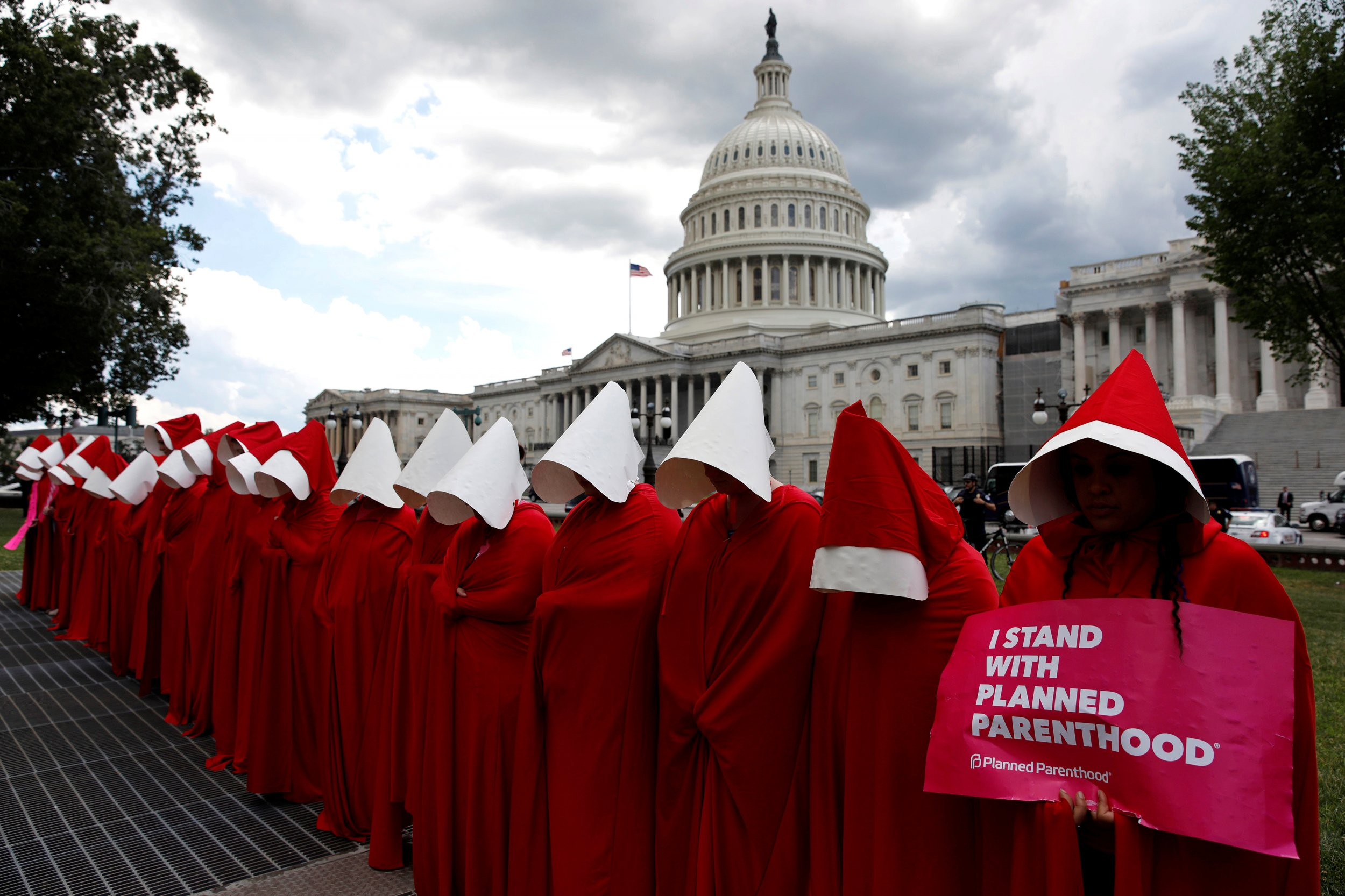 Womens Rights Why the Handmaid has Become a Symbol of AntiTrump Resistance