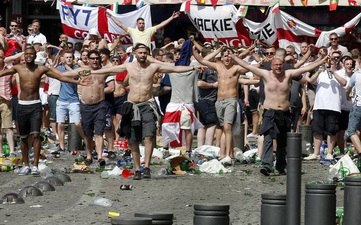 Euro 2016 Fans Fight Ahead of EnglandRussia Match