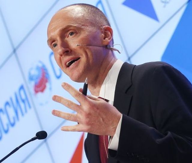 Carter Page A Former Foreign Policy Adviser To President Donald Trump Makes A Presentation During A Trip To Moscow Getty Images