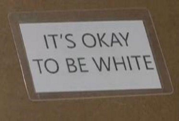 Neo Nazi Its Okay To Be White Slogans Found Inside