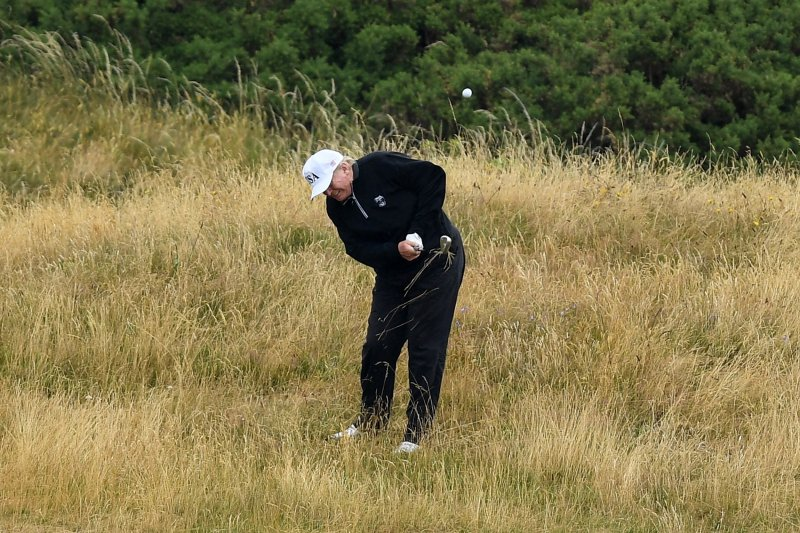Image result for trump golfing during mccain