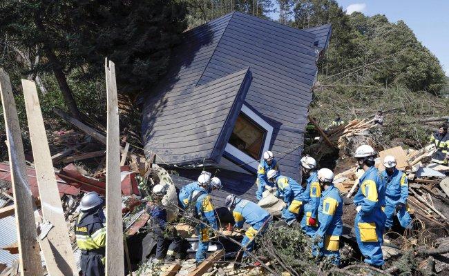 Japan Earthquake Hokkaido Quake Triggers Landslide