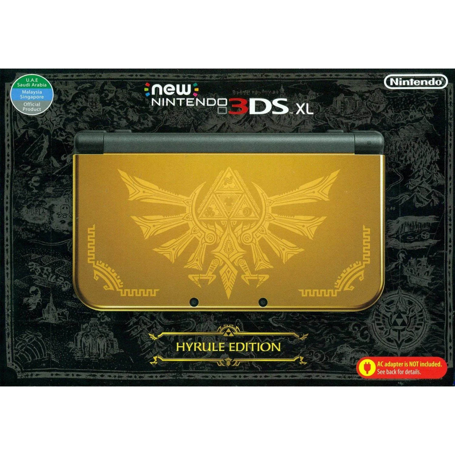 Nintendo 3ds Xl Hyrule Gold Edition Asia Packaging