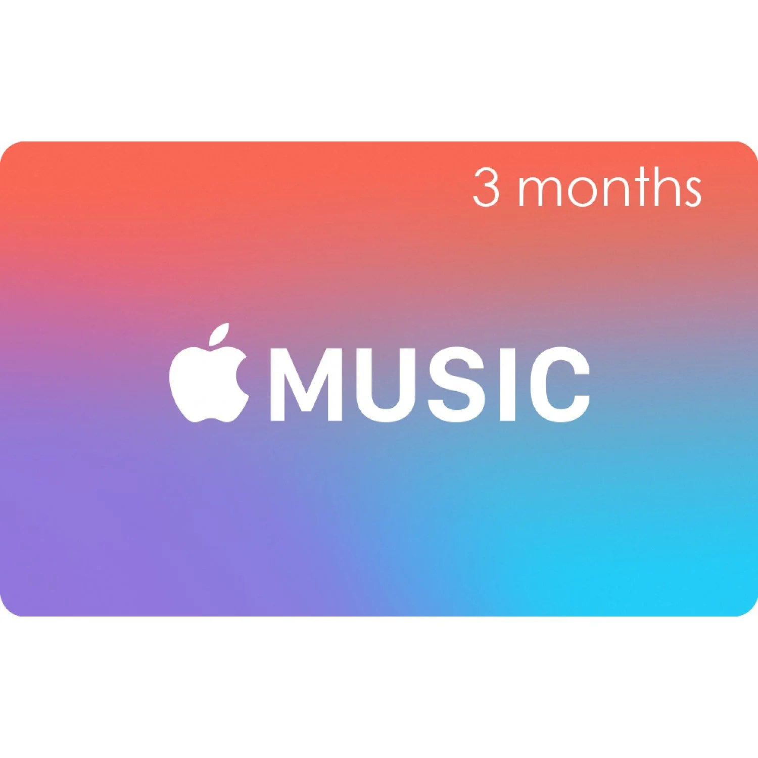 Apple Music Gift Cards 3 Month Membership Card For
