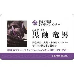 MONSTER HUNTER IC CARD STICKER HUNTER BUSINESS CARDS & FINE MEAL TICKET Capcom
