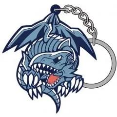YU GI OH! DUEL MONSTERS TSUMAMARE KEYCHAIN: BLUE EYES WHITE DRAGON (RE-RUN) Cospa