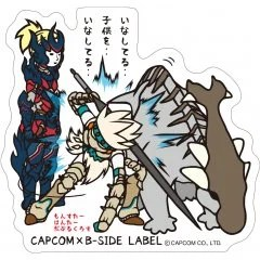 CAPCOM X B-SIDE LABEL MONSTER HUNTER XX STICKER: BRAVE STYLE Capcom