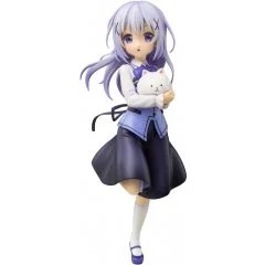 IS THE ORDER A RABBIT?? 1/7 SCALE PRE-PAINTED FIGURE: CHINO (CAFE STYLE) (RE-RUN) Plum