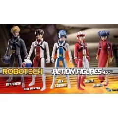 ROBOTECH ACTION FIGURES WAVE 1 (SET OF 5 PIECES) Toynami