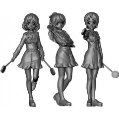 GIRLS UND PANZER DAS FINALE 1/35 SCALE UNPAINTED MODEL KIT: REFEREE FIGURE SET Platz