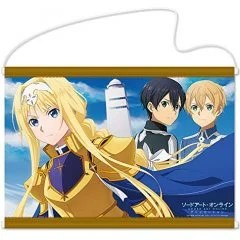 SWORD ART ONLINE ALICIZATION B2 WALL SCROLL: ALICE & KIRITO & EUGEO Hobby Stock