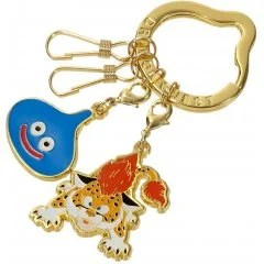DRAGON QUEST SMILE SLIME METAL KEY RING: SLIME & BABY PANTHER Square Enix