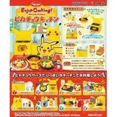 POKEMON ENJOY COOKING! PIKACHU KITCHEN (SET OF 8 PIECES) (RE-RUN) Re-ment