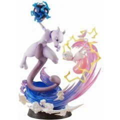 G.E.M. EX SERIES POCKET MONSTERS PRE-PAINTED PVC FIGURE: MEW & MEWTWO (RE-RUN) Mega House