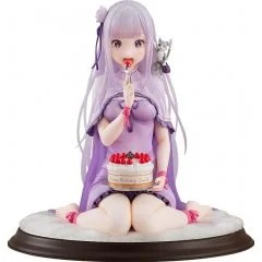 KD COLLE RE:ZERO -STARTING LIFE IN ANOTHER WORLD- 1/7 SCALE PRE-PAINTED FIGURE: EMILIA BIRTHDAY CAKE VER. Kadokawa Shoten