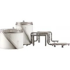 INDUSTRIAL AREA A PLASTIC MODEL: STORAGE TANKS Plum
