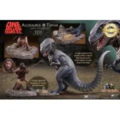 STAR ACE TOYS ONE MILLION YEARS B.C. SOFT VINYL FIGURE: ALLOSAURUS VS. TUMAK SOFUBI FIGURE SET Star Ace Toys