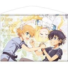 SWORD ART ONLINE ALICIZATION HORIZONTAL B2 WALL SCROLL: KIRITO & EUGEO & ALICE Cospa