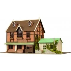 ANI-TECTURE 03 IS THE ORDER A RABBIT?? 1/150 PAPER KIT: AMA USA AN & SYARO'S HOUSE Plum