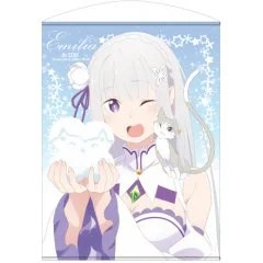 RE:ZERO -STARTING LIFE IN ANOTHER WORLD- 100CM WALL SCROLL VER.2.0: EMILIA (RE-RUN) Cospa