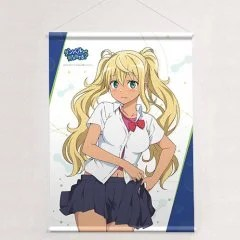 HOW HEAVY ARE THE DUMBBELLS YOU LIFT? ORIGINAL ILLUSTRATION B2 WALL SCROLL: SAKURA HIBIKI Curtain Damashii