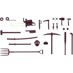 LITTLE ARMORY LD030 1/12 SCALE MODEL KIT: ZOMBIE HUNTER SET A Tomytec