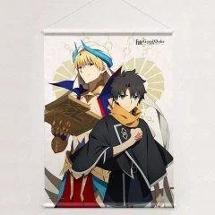 FATE/GRAND ORDER -ABSOLUTE DEMONIC BATTLEFRONT: BABYLONIA- B2 WALL SCROLL: FUJIMARU RITSUKA & GILGAMESH Curtain Damashii