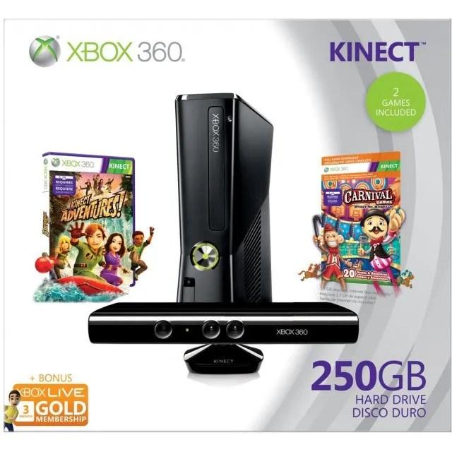 Xbox 360 Elite Slim Console 250GB Kinect Bundle Incl