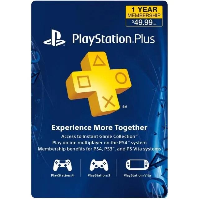 Playstation Plus 12 Month Membership Us