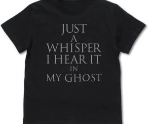 GHOST IN THE SHELL: STAND ALONE COMPLEX - JUST A WHISPER I HEAR IT IN MY GHOST T-SHIRT BLACK (L SIZE)