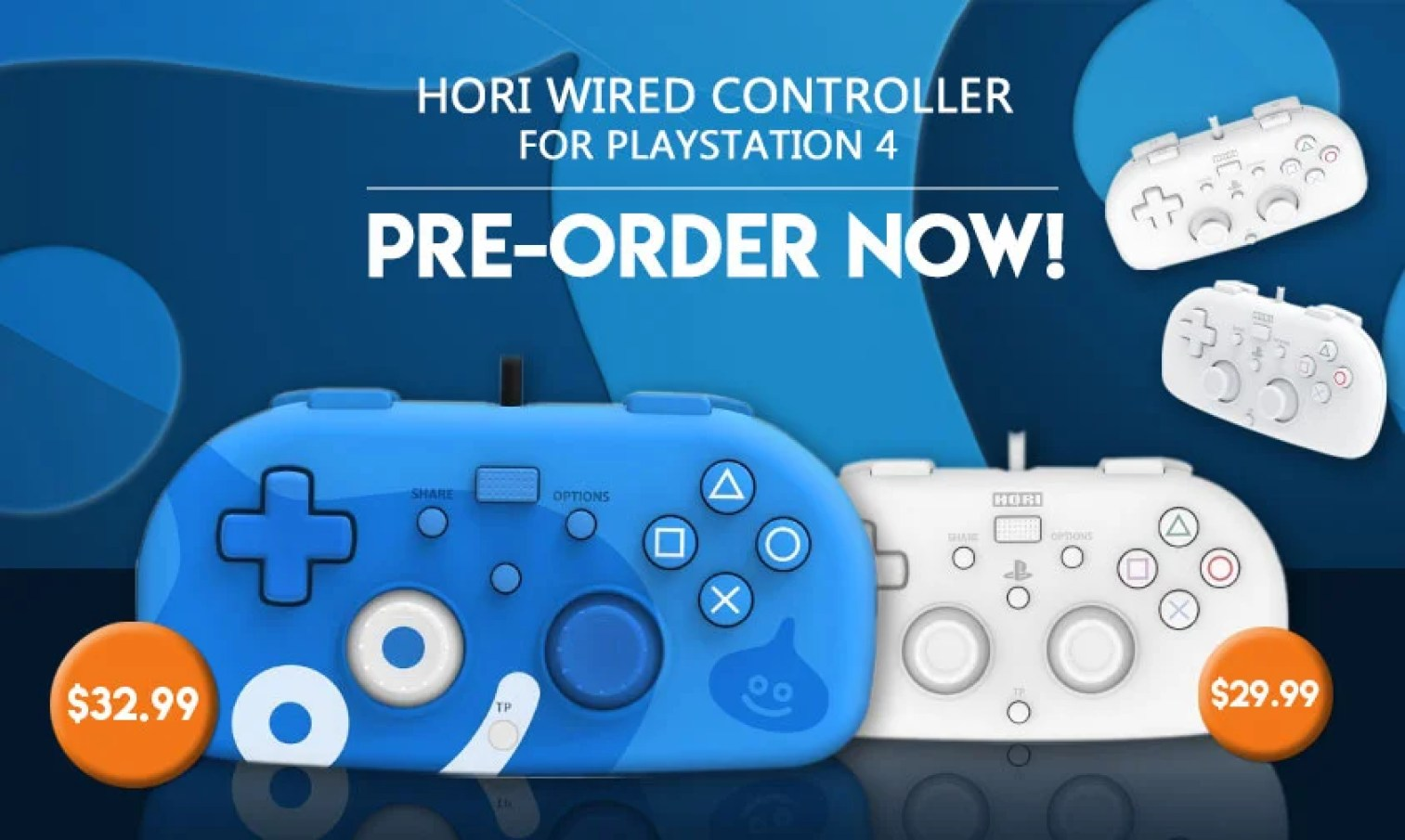 A lightweight alternative for PS4 controllers with Hori