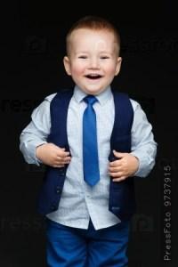 Fashion little boy in tie