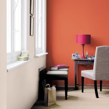 Tendance dco  dcouvrez nos ambiances ultra colores  Un bureau vitamin avec un orange