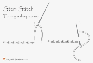 How To Turn Corners When Embroidering Stem Stitch Corner