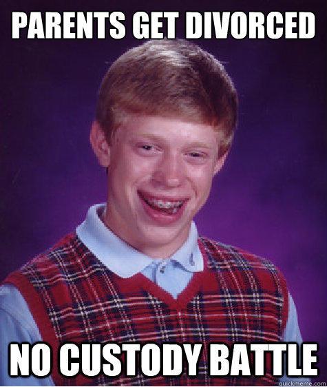parents get divorced no custody battle