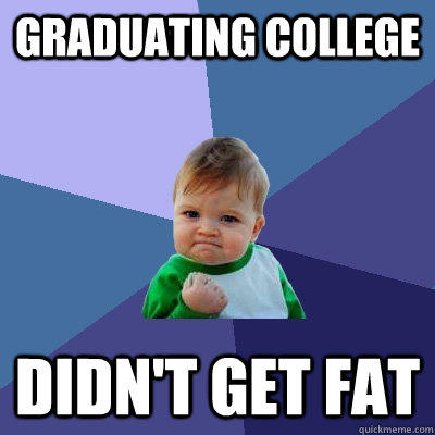 Graduating College Didn't Get Fat