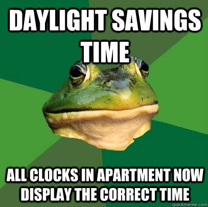 Daylight savings time  all clocks in apartment now display the correct time