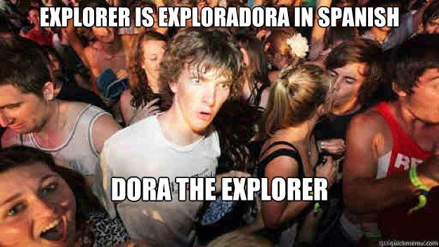 explorer is exploradora in spanish dora the explorer