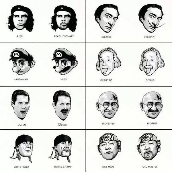The power of facial hair!