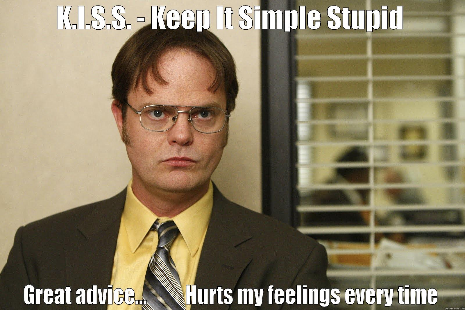 Image result for keep it simple stupid the office