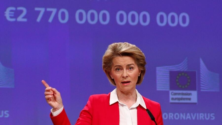 Chủ tịch Ủy Ban Châu Âu Ursula von der Leyen tại Bruxelles ngày 02/04/2020.